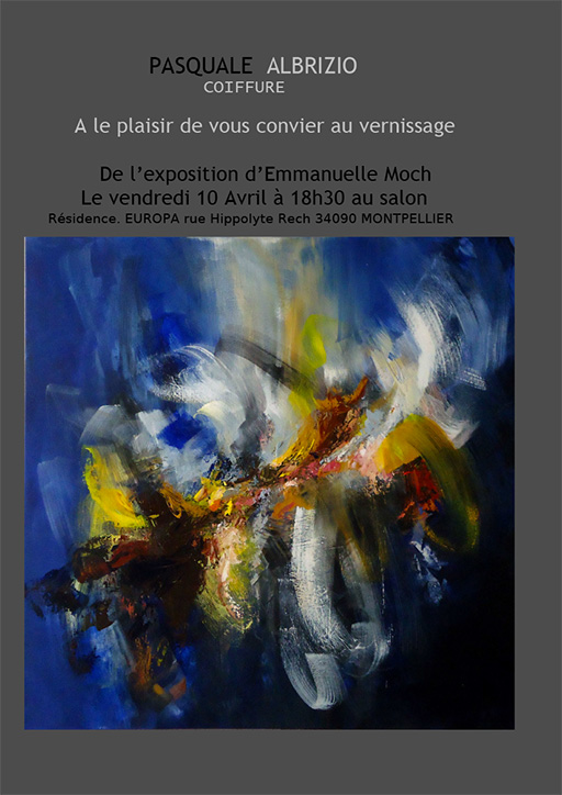 Exposition-Emmanuelle-Moch-chez-Pasquale-Albrizio-coiffure-montpellier